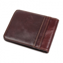 Guangzhou factory cheap price good quality genuine leather rfid credit cards wallet money clip