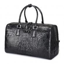 Custom design top quality real crocodile skin leather travel bag leather duffle bag for weekend