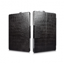 Manufacturer price good quality black crocodile leather ipad case Microsoft surface pro 4 tablet case