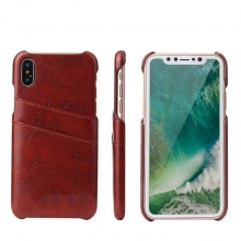 Hot sale top quality PU leather mobile phone cases artificial leather iphoneX cases with cards holder