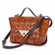New design good quality vintage style real cow leather handbag fashion women purse
