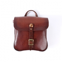 High end good quality vintage design brown vegetable tanned leather handbag women leather purse