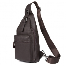 Outdoor Sports Casual leather Crossbody Sling Bag Shoulder Bag Chest Bag for Men