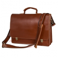 Leisure style good quality large capacity laptop bag briefcase leather business bag