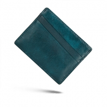 Cheap price promotion gift top quality Italy leather slim RFID credit card holders