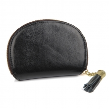 Hot selling promotional gifts good quality real leather zipper coin wallet rfid cards wallet