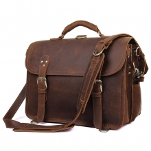 Custom design retro style large crazy horse leather travel duffle bag for weekend