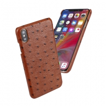 Luxury design good quality ostrich pattern leather iphonex cases leather mobile phone cases