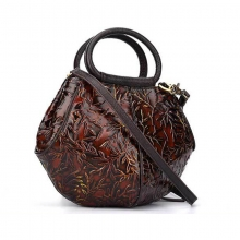 China manufacturer price special design vintage cow leather handbag leisure bag for ladies