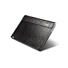 New design high quality good price black crocodile grain leather Mircosoft surface book 2 tablet case