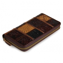 Cheap price good quality stitching leather wallet travel wallet for women
