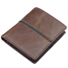 Hot selling low price good quality brown genuine leather credit card wallet rfid wallet