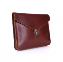 Factory price business gift good quality real leather briefcase men document bags