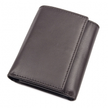 Best selling cheap price custom logo credit card wallet brown calf leather rfid wallet