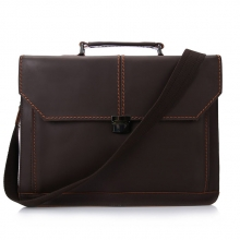 China factory high end vintage leather messenger briefcase laptop bags for men