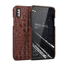Hot selling top quality genuine leather crocodile print leather mobile phone cover leather iphone case