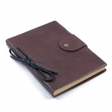 Factory Price Business Gift Leather Note Book Holder Vintage Brown Leather Notebook Cover
