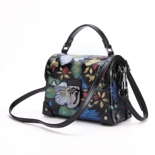 Factory price fashion design new colletion cow leather handbag leather purse for ladies