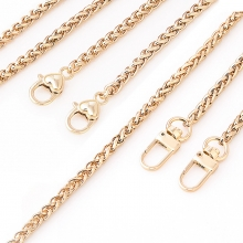 Factory price good quality zinc alloy metal bag chain light gold chain for women handbag