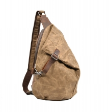 China factory cheap price good quality waxy canvas crossbody bags shoulder bag for men