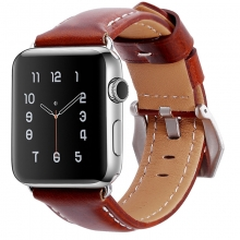 Factory price good quality genuine leather watch straps leather watch bands 38mm for apple