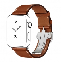 Factory price best selling good quality 38mm 42mm brown full grain leather watchband