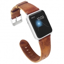 38mm 42mm Cheap price good quality vintage crazy horse leather watch strap for apple watch