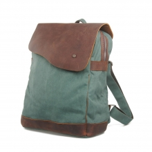 China factory wholesale canvas and genuine leather jansport backpacks