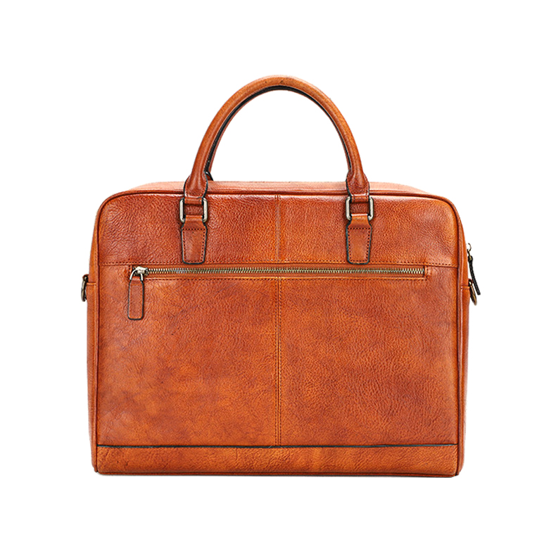 Factory price handbag vintage brown briefcase leather briefcase for men