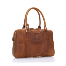 Factory price good quality crazy horse leather tote weekend bag