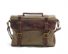 Good quality cheap price vintage design canvas with leather messenger bag laptop messenger bag for school