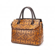 Fatory cheap price good quality africa style bag genuine leather women handbag
