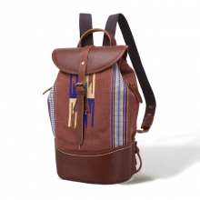 China Factory Cheap Price Good Quality Indian Style Canvas Mix Leather Backpack for Women