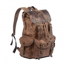 2019 China manufacturer price retro design waterproof canvas backpack bag for outdoor