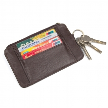 Factory cheap price genuine leather rfid credit cards wallets cards holder for men women