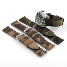 High quality camo green leather watch strap wrist watch strap leather watch bands
