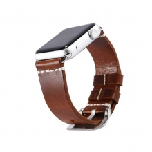 Custom design watch band brown leather watch strap apple watch strap