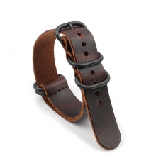 Factory price vintage brown leather watch strap Nato watch strap leather watch bands