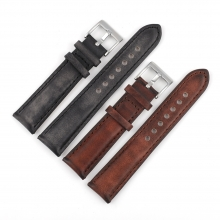 Factory price 22mm retro style leather iwatch strap leather watch bands leather watch straps