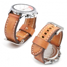 High quality tan leather watch band 22mm watch strap vintage leather watch straps