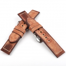 OEM design vintage brown leather watch accessories wrist watch bands watch straps for men