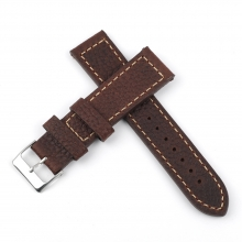 Hot sales high quality 22mm brown leather watch band wrist strap leather watch straps